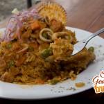 arroz con mariscos en detalle